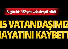 Türkiye'de son 24 saatte 15 kişi hayatını kaybetti