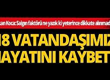 Türkiye'de son 24 saatte korona virüs nedeniyle 19 kişi hayatını kaybetti