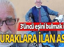 78 yaşında, 3'üncü eşini bulmak için duraklara ilan astı