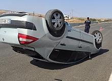 81 metre sürüklenen araç ters döndü