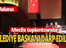 Adana Büyükşehir Belediyesi'nde yumruklar havada uçuştu