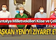 AK Parti Antalya Milletvekilleri Köse ve Çelik'ten AGC'ye ziyaret