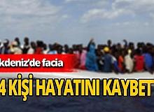 Akdeniz'de göçmenleri taşıyan bot battı