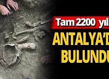 Antalya'da 2200 yıllık tarihi eser bulundu