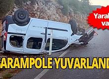 Antalya'da araç takla attı