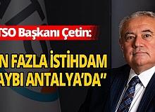 Antalya'da nüfus arttı, istidam azaldı