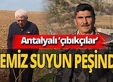 Antalya'da tahta çubukla su arıyorlar! İşte o görüntüler