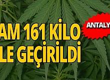 Antalya haber: 161 kilo uyuşturucu ele geçirildi