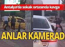 Antalya haber: 2 erkek ile 1 kadın, sokak ortasında sopalarla birbirine girdi!