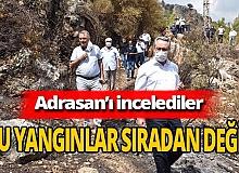 Antalya haber: Adrasan'da yangın incelemesi