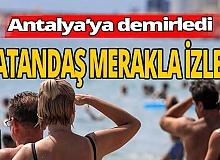 Antalya haber: Antalya'da demirledi vatandaş merakla izledi