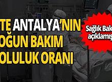 Antalya haber: Antalya'nın yoğun bakım doluluk oranı açıklandı