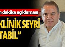 Antalya haber: Başkan Böcek hakkında son dakika açıklaması