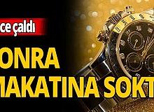Antalya haber: Çaldığı saati böyle sakladı