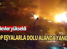 Antalya haber: Çöp eşyalarla dolu alanda yangın