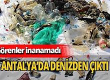 Antalya haber: Denizden neler çıktı neler
