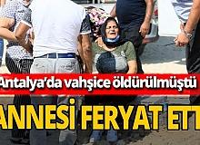 Antalya haber: Duygu gözyaşları içerisinde toprağa verildi