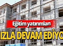 Antalya haber: Eğitime hizmet son gaz devam ediyor