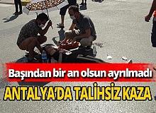Antalya haber:  Genç kıza otomobil çarptı