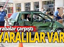 Antalya haber: İki araç çarpıştı: Yaralılar var