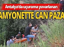 Antalya haber: Kamyonet 50 metrelik uçuruma yuvarlandı