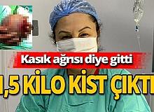 Antalya haber: Kasık ağrısıyla gitti, bakın ne çıktı