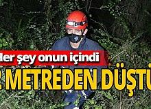 Antalya haber: Köpeği kurtarmak isterken kendi mahsur kaldı