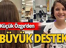 Antalya haber: Küçük Özge'den anlamlı destek