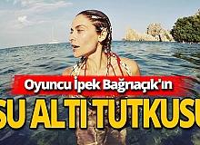 Antalya haber: Ünlü oyuncunun su altı sefası