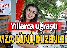 Antalya haber: Yıllarca uğraşan Şevval'in kitabı çıktı