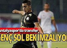 Antalya haber: Antalyaspor'a genç sol bek