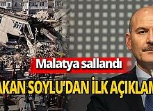 Bakan Soylu'dan deprem açıklaması