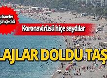 Bu kareler bugün çekildi! Antalya plajları doldu taştı
