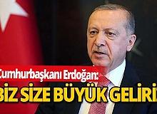 """Cumhurbaşkanı Erdoğan: """"Biz size büyük geliriz, bizi yiyemezsiniz."""""""
