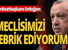 Cumhurbaşkanı Erdoğan'dan teşekkür