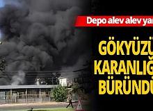 Antalya'da gökyüzünü siyah dumanlar kapladı