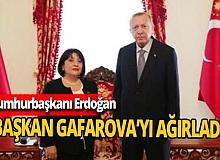 Erdoğan, Azerbaycan Milli Meclis Başkanı'nı kabul etti