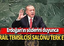 Erdoğan'ın sözlerini duyunca İsrail temsilcisi salonu terk etti
