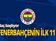 İşte yeni Fenerbahçe! Hatayspor karşısında ilk 11