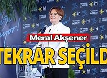 İYİ Partinin başkanı yeniden Meral Akşener