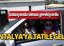 İzolasyona alınmıştı, Antalya'ya giderken yakalandı!