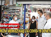 Kaş'ta Covid-19 denetimi