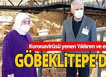 Koronavirüsü yenen Binali Yıldırım ve eşi, ilk ziyaretini Göbeklitepe'ye yaptı