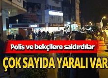 Polis ve bekçilere saldırı