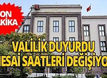 Son dakika... Ankara Valiliği mesai saatlerini değiştiriyor