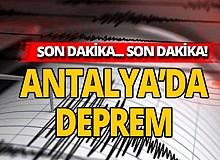 Son dakika: Antalya'da deprem