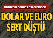 SON DAKİKA! BDDK'nın hamlesi sonrası dolar sert düştü