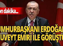Son dakika! Cumhurbaşkanı Erdoğan, Kuveyt Emiri ile görüştü