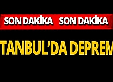 SON DAKİKA! İstanbul'da deprem oldu