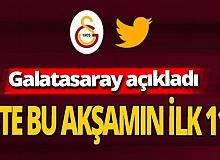 Son dakika! İşte Galatasaray'ın bu akşamki ilk 11'i